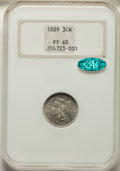 Proof Three Cent Nickels: , 1889 3CN PR65 NGC. CAC. NGC Census: (386/287). PCGS Population: (405/367). PR65. Mintage 3,436. ...