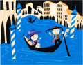 "Animation Art:Concept Art, Mary Blair ""It's a Small World"" Concept Painting (Walt Disney, 1964)...."