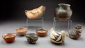 American Indian Art:Pottery, Eight Southwest Pottery Vessels... (Total: 8 )