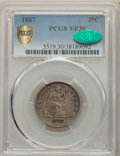 Seated Quarters, 1887 25C VF30 PCGS. CAC. PCGS Population: (4/147 and 0/4+). NGC Census: (0/96 and 0/1+). CDN: $380 Whsle. Bid for problem-f...