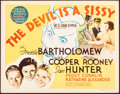"""Movie Posters:Drama, The Devil is a Sissy (MGM, 1936). Very Fine-. Title Lobby Card (11"""" X 14""""). Drama.. ..."""