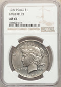 1921 $1 High Relief MS64 NGC. NGC Census: (3652/1335). PCGS Population: (4620/1686). CDN: $625 Whsle. Bid for problem-fr...