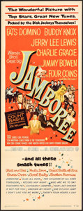 """Movie Posters:Rock and Roll, Jamboree (Warner Bros., 1957). Folded, Fine/Very Fine. Insert (14"""" X 36""""). Rock and Roll.. ..."""