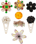 Luxury Accessories:Accessories, Chanel Set of 8: Multi-Colored Brooches . Condition: 3. See Extended Condition Report for Sizes.... ... (Total: 8 Items)