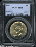 Kennedy Half Dollars: , 1966 50C MS65 PCGS. ...