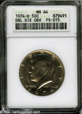 Kennedy Half Dollars: , 1974-D 50C Doubled Die Obverse MS64 ANACS. FS-015....