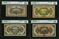 World Currency, China Yunnan Kor Pick Railway Bank 1; 5; 10; 50 Dollars ND (ca.1920s) Pick Unlisted Specimen Set PMG Gem Uncirculated 65 E... (Total: 4 notes)