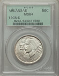 1935-D 50C Arkansas MS64 PCGS. PCGS Population: (480/747). NGC Census: (291/499). CDN: $95 Whsle. Bid for problem-free N...