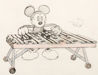 The Birthday Party Mickey Mouse Animation Layout Drawing (Walt Disney, 1931)