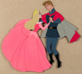 Animation Art:Production Cel, Sleeping Beauty Princess Aurora and Prince Phillip Pan Production Cel (Walt Disney, 1959)....