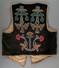 American Indian Art:Beadwork and Quillwork, A Prairie Man's Beaded Cloth Vest...