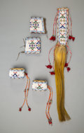 American Indian Art:Beadwork and Quillwork, A Sioux Beaded Hide Ensemble... (Total: 5 Item)
