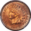 Indian Cents, 1907 1C MS67+ Red PCGS....