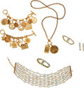 Luxury Accessories:Accessories, Chanel Set of Six: Four Gold Bracelets and Two Gold Necklaces. Condition: 3. See Extended Condition Report for Sizes...... (Total: 6 )