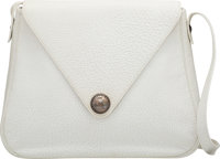 "Hermès White Fjord Touareg Christine Bag with Palladium Hardware E Square, 2001 Condition: 4 14"" Width x 11&..."