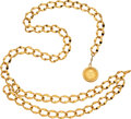 """Luxury Accessories:Accessories, Chanel Gold Chain Belt with Medallion . Condition: 2. 36"""" Length . ..."""