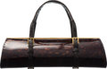 """Luxury Accessories:Bags, VBH First Edition Brown Patent Leather and Crocodile Tootsie Bag. Condition: 4. 10"""" Width x 3.5"""" Height x 4"""" Depth. ..."""