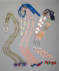 American Indian Art:Beadwork and Quillwork, Three Prairie Loom-beaded Hair Drops... (Total: 3 )