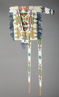American Indian Art:Beadwork and Quillwork, A Great Lakes Beaded Baby Carrier Ornament...