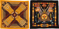 """Luxury Accessories:Accessories, Hermès Set of Two: Silk & Cashmere Scarves. Condition: 2. 55"""" Width x 55"""" Height. ... (Total: 2 Items)"""