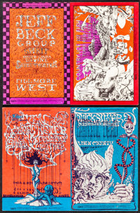 Jeff Beck Group at the Fillmore West (Bill Graham, 1968). Very Fine. Oversized Concert Promotional Postcards (2) (9.25&q...
