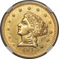 Territorial Gold , 1861 $2 1/2 Clark, Gruber & Co. Quarter Eagle MS61 NGC. K-5, R.4. ...