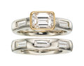 Estate Jewelry:Rings, Diamond, Platinum, Gold Ring Set. ... (Total: 2 Items)