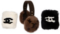 Luxury Accessories:Accessories, Set of 3: Two Chanel Lapin Fur Cuffs & Louis Vuitton Mink Earmuffs. Condition: 1. See Extended Condition Report for Si... (Total: 3 Items)