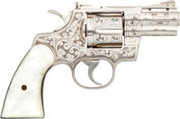 Colt Custom Engraved Python Model Double Action Revolver