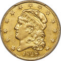 Early Half Eagles, 1828 $5 BD-4, High R.6 -- Surfaces Smoothed -- PCGS Genuine. XF Details....