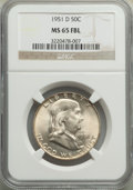 1951-D 50C MS65 Full Bell Lines NGC. NGC Census: (374/21). PCGS Population: (1047/140). CDN: $145 Whsle. Bid for problem...