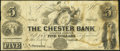 Obsoletes By State:New York, Chester, NY- Chester Bank $5 Apr. 23, 1862 Very Good-Fine.. ...
