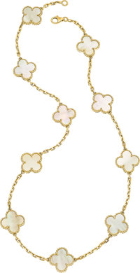 Mother-of-Pearl, Gold Necklace, Van Cleef & Arpels