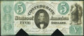 Confederate Notes:1861 Issues, T33 $5 1861 PF-12 Cr. 254a Fine, COC.. ...