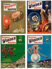 Wonder Stories Box Lot(1920s-30s) Condition: Average VG/FN