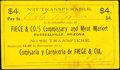 Obsoletes By State:Arizona, Russellville, AZ- Fiege & Co.'s Commissary and Meat Market $4 Apr. 14, 1909 Extremely Fine-About Uncirculated.. ...