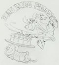Animation Art:Concept Art, Hong Kong Phooey Consumer Products Drawing by Iwao Takamoto (Hanna-Barbera, 1974).... (Total: 2...