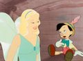 Animation Art:Production Cel, Pinocchio Blue Fairy and Pinocchio Production Cel (Walt Disney, 1940)....