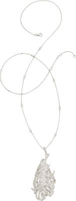 Diamond, White Gold Pendant-Necklace, Sam Saab