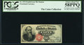 Fractional Currency:Fourth Issue, J.N. Huston Courtesy Autograph Fr. 1376 50¢ Fourth Issue PCGS Choice About New 58PPQ.. ...