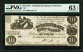 Confederate Notes:1861 Issues, T28 $10 1861 PMG Choice Uncirculated 63 EPQ.. ...