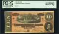 Confederate Notes:1864 Issues, T68 $10 1864 PCGS Very Choice New 64PPQ.. ...