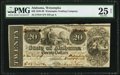 Obsoletes By State:Alabama, Wetumpka, AL- Wetumpka Trading Co. $20 Dec. 1, 1838 G8 PMG Very Fine 25 Net.. ...
