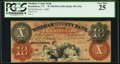 Obsoletes By State:Vermont, Brattleboro, VT- Windham County Bank $10 Mar. 1, 1862 G10a Coulter 54 PCGS Very Fine 25.. ...