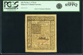 Colonial Notes:Delaware, Delaware January 1, 1776 6s PCGS Gem New 65PPQ.