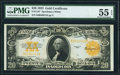 Large Size:Gold Certificates, Fr. 1187 $20 1922 Gold Certificate PMG About Uncirculated 55 EPQ.. ...
