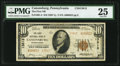 National Bank Notes:Pennsylvania, Canonsburg, PA - $10 1929 Ty. 2 The First National Bank Ch. # 13813 PMG Very Fine 25.. ...