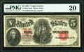 Large Size:Legal Tender Notes, Fr. 90 $5 1907 Mule Legal Tender PMG Very Fine 20.. ...