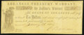 Obsoletes By State:Arkansas, (Little Rock), AR- Arkansas Treasury Warrant $10 Jan. 10, 1862 Cr. 11F Very Fine-Extremely Fine.. ...