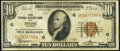 Error Notes:Miscellaneous Errors, Misaligned Back Printing Error Fr. 1860-G $10 1929 Federal Reserve Bank Note. Fine.. ...